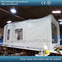 Бесплатная доставка 6 м ПВХ брезента красильной надувные paint booth надувные автомобиля красильной палатка