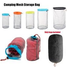 Storage-Bag Traveling-Organizer Stuff Sack Ultralight Camping Outdoor Mesh 1pc Sports-Tool