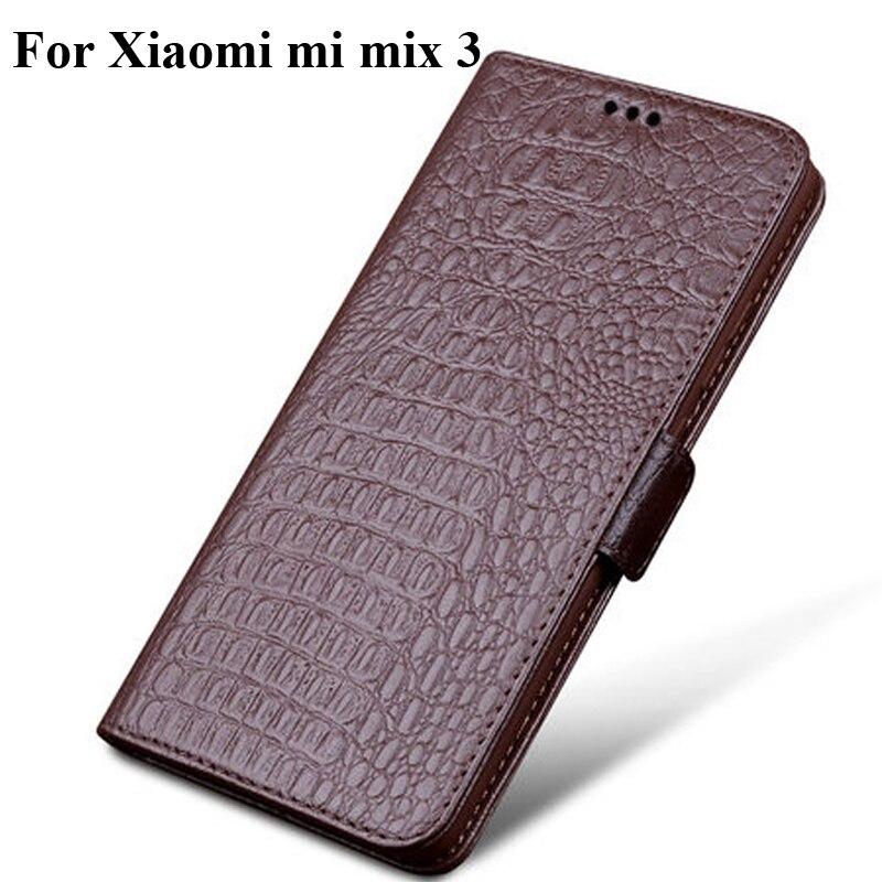 Étui à rabat en cuir véritable pour Xiao mi mi mi x3 mi x 3 étui coque arrière étui pour Xiao mi mi mi x3 mi x 3 protecteur coque fundas