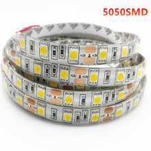 DC12V 1/2/3/4/5M SMD 5050 RGB LED Strip Lampu Tahan Air LED Tape flexible Strip Lampu 60 LED/M Tira Dekorasi Rumah Lampu Mobil Lampu(China)