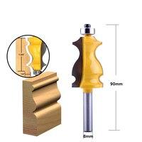 cnc חותך 5PC 8mm Shank מארז & Base נתב דפוס Bit Set CNC Line סכין נגרות חותך שֶׁגֶם קאטר כלים לעיבוד עץ (3)
