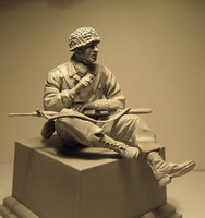 Crazy King1/16 resin figure soldier model World War II soldiers package gk hand white mode military war 153