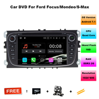 2 Din 7 Inch Android 7 1 1 Car DVD Player For FORD Focus Mondeo S