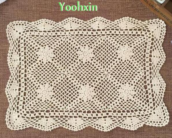 US 12 OFF Modern White Cotton Crochet Table Cloth Rectangular Lace Tea Tablecloth Cover Mantel Xmas Home Party Christmas Wedding Decor In