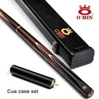 OMIN Brand Custom Snooker Cue 9 5mm 10mm Cue Tips 145cm Handmade Ash Wood Shaft Billiard