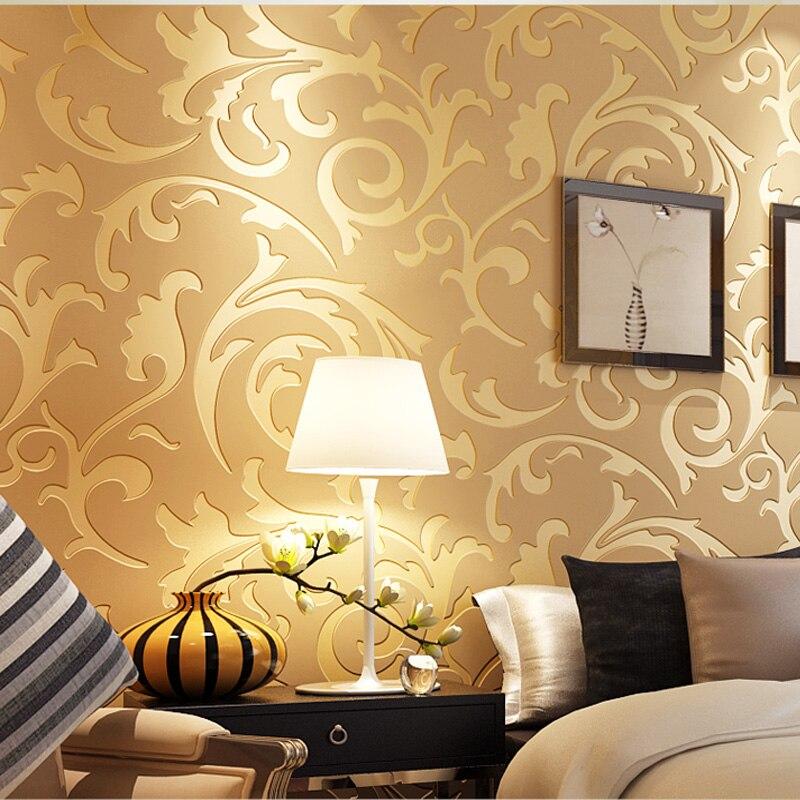 d papel tapiz de textura en relieve glitter damasco barroco destacado vintage wallpaper de pared