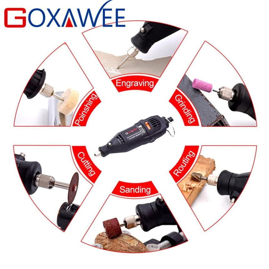 GOXAWEE 130 W Elektryczny Mini Wiertarka Grawerowanie Styl Dremel - Elektronarzędzia - Zdjęcie 6