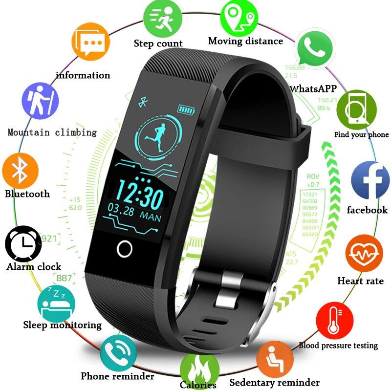 2018New Smartwatch Männer Fitness Tracker Pedometer Sport Uhr Blutdruck Herz Rate Monitor Frauen Smart Uhr für ios Android
