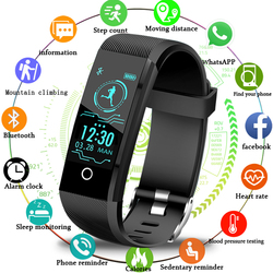2018New Smartwatch Men Fitness Tracker Pedometer Sport Watch Blood Pressure Heart Rate Monitor Women Smart Watch for ios Android