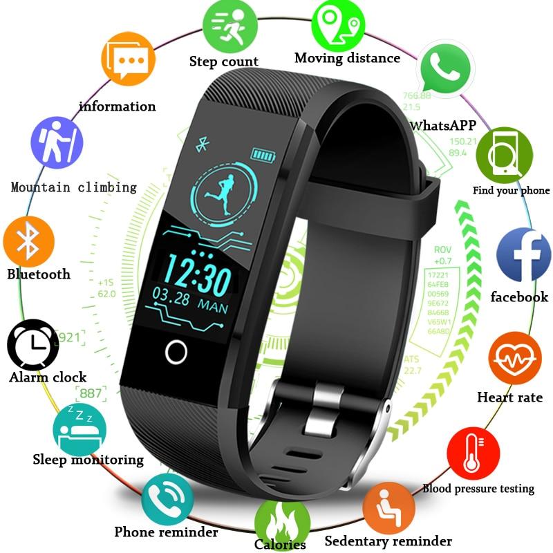 2019New Smartwatch Men Fitness Tracker Pedometer Sport Watch Blood Pressure Heart Rate Monitor Women font b