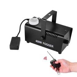 400 w máquina de fumaça/mini controle remoto sem fio fogger/estágio fumaça ejetor/dj natal festa em casa estágio máquina de nevoeiro equipamentos