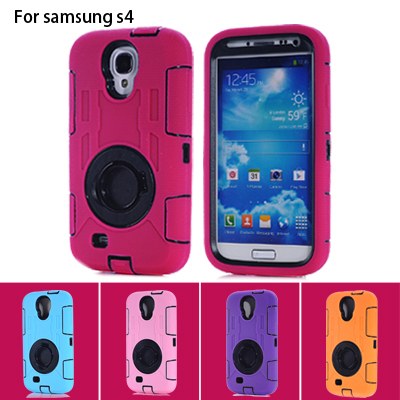 For Samsung S4 Robot Military Case Cover 360 Rotation Ring Rugged Safe Proof Armor