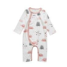 Симпатичная Пижама для новорожденных мальчиков и девочек с принтом фламинго, одеяло с рисунком, пижамы, Детская одежда