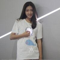 2017 new fashion summer t shirt women cotton comfortable t shirt women clothing Luminous T shirt LED clothing MVNS T0005
