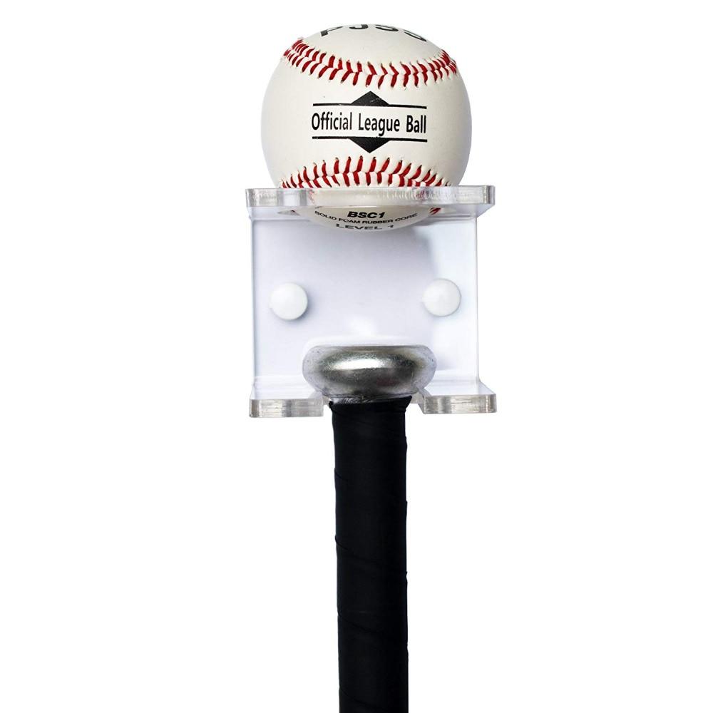 Baseball Bat And Baseball Holder - Acrylic - Clear - No Bat And Ball