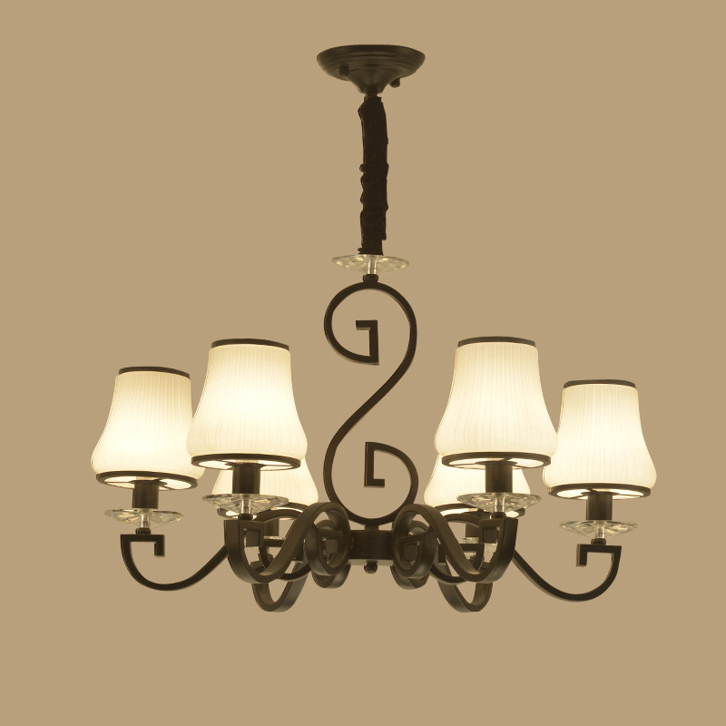 US $443.43 |YOOK 8 Lights LED Chandelier Chinese Chandelier for Living Room  Iron Traditional Chandelier for Bedroom Dining Room Chandelier-in ...