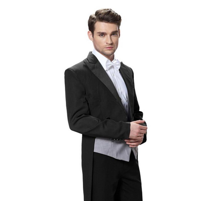 Custom Made Bridegroom Best Groomsmen Wedding Tuxedo Peaked Lapel ...