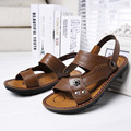 2016 New Summer Real Leather Sandals Men's Beach Sandals Comfortable Footwear Summer Shoes SIZE 38-43 Free Shipping