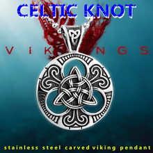 KLDY Nordic viking pendant necklace for men cool stainless steel Viking knot charm jewelry wholesale price