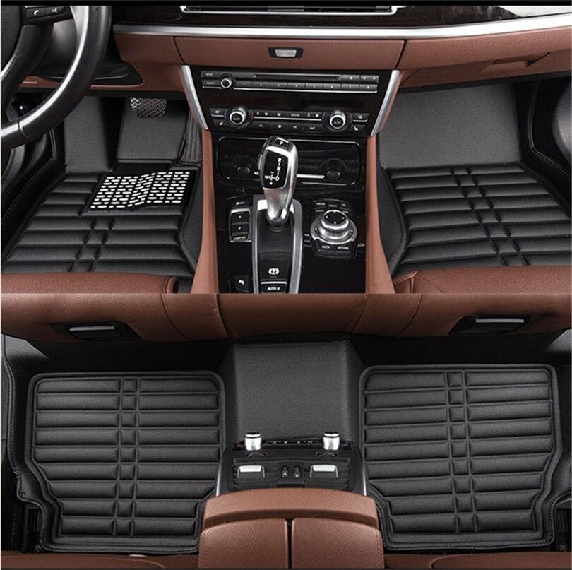 Auto Floor Mats For Mercedes-Benz X164 GL63 GL300-GL550 2008-2011 Foot Carpets Step Mat Water Proof Clean Solid Color Mats