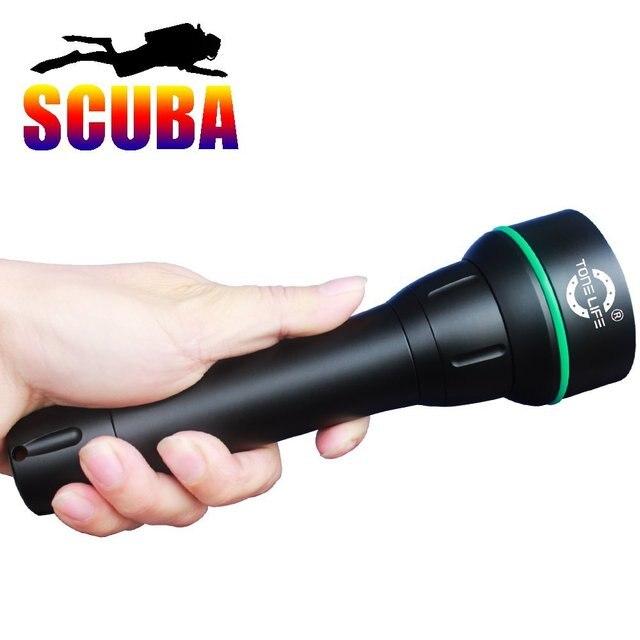 Scuba Waterproof 150meter 3000lm Cree Xml2 U2 Led Diving Masks Light Led Dive Torch Underwater Flashlight (Torch+Lanyard)