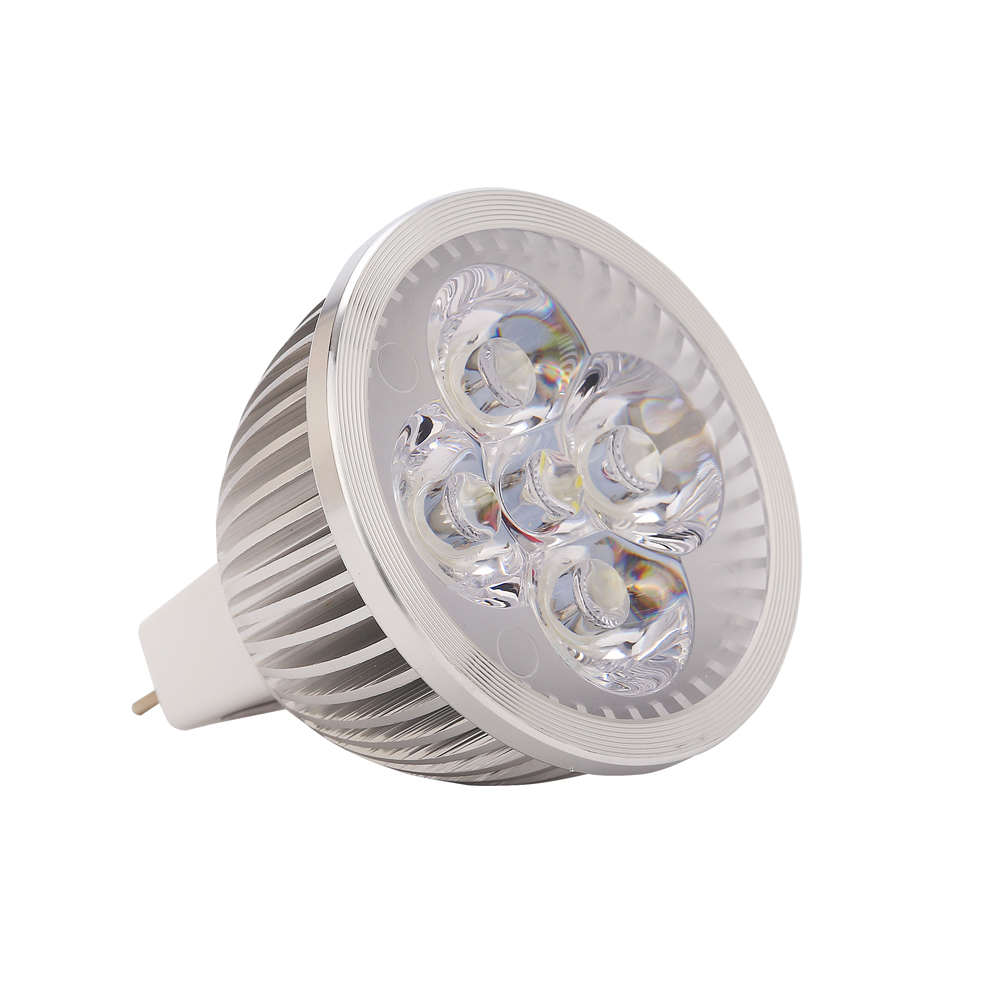 Lámpara LED MR16 Proyector LED 4W 12V MR16 Lampada LED Bombillas GU5.3 Iluminación del hogar
