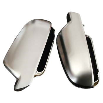 Matt Chrome Side Mirror Cap Housing / Cover For Audi A4 A5 S4 S5 S-Line L+R