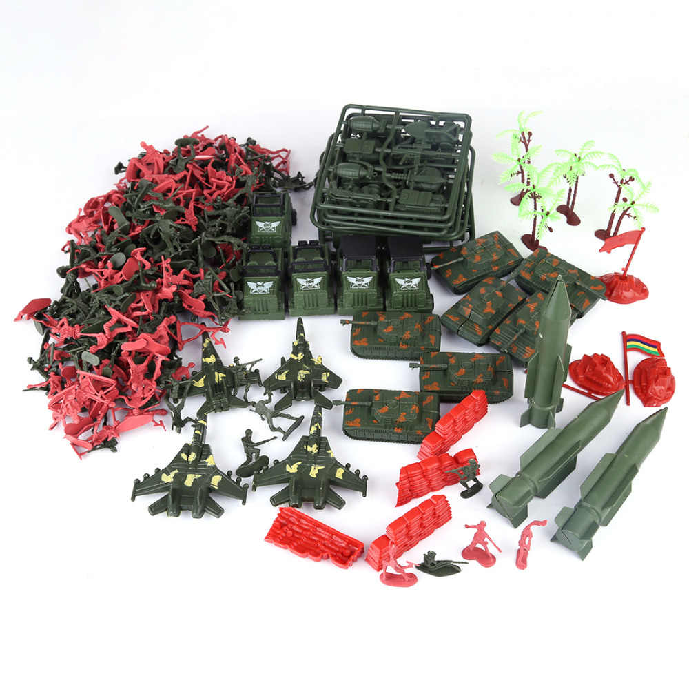 301Pcs 5cm Plastic Soldier Model World War II Soldier Military Learning Education Toys Set for Children
