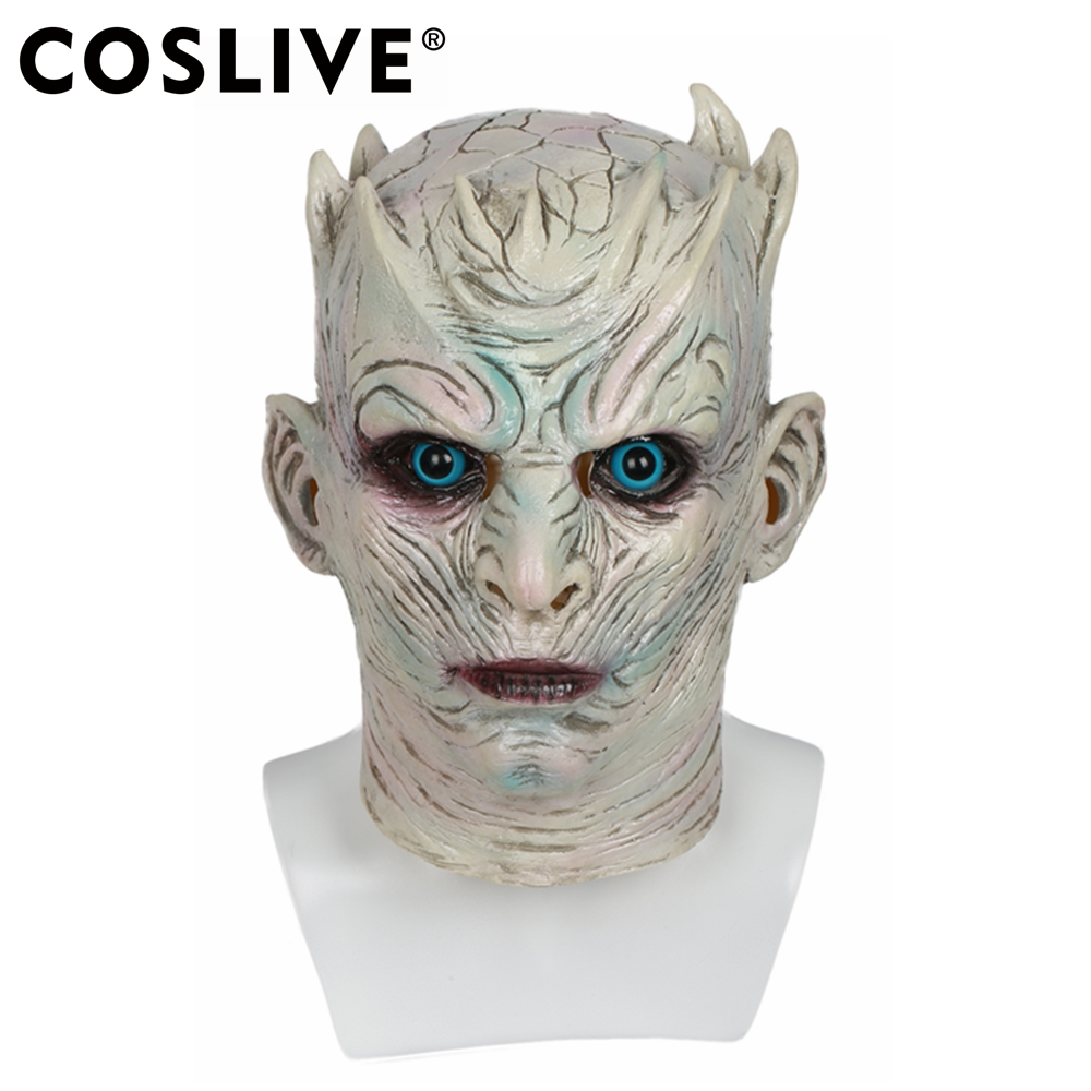 Coslive Game of Thrones Cosplay Helmet Nights King Mask Fancy Dress Full Head Mask Costume Prop for Adults Show Party