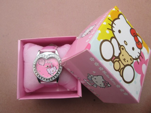 73c34349c Hello Kitty watches girl KT cat love child watches in box free shipping1pcs/ lot