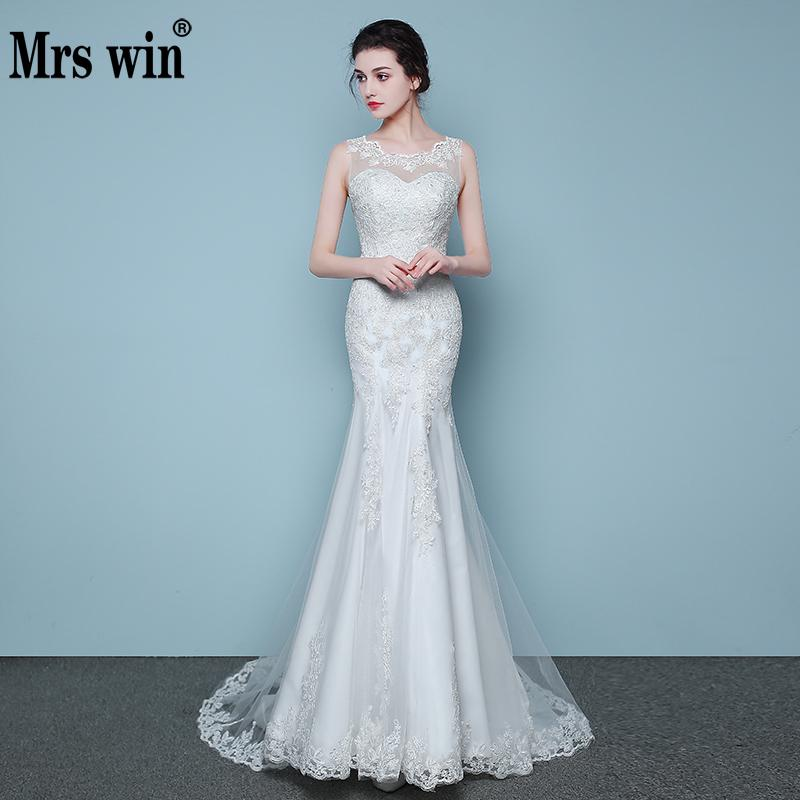 Elegant And Conservative Beautiful Lace Mermaid Wedding Dress 2020 Simple Cheap Vestidos De Noiva Robe De Mariage Bridal Dress