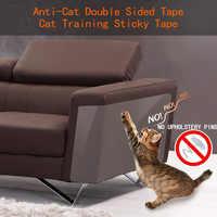 8 pièces/ensemble chat gratter bande dissuasif anti-rayures Durable autocollant clair tapis canapé Protection meubles animaux de compagnie formation sièges