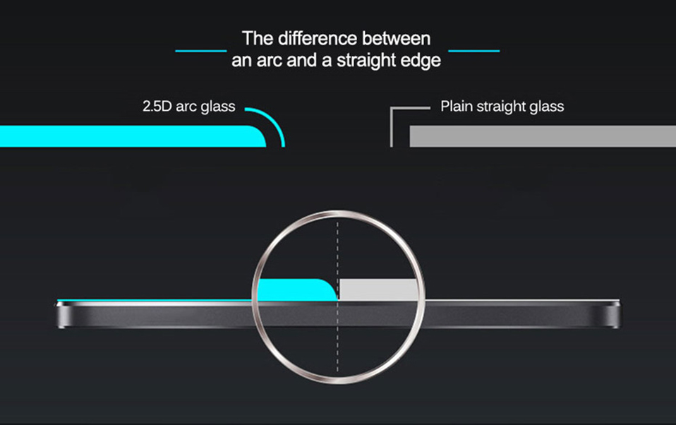 2PCS Tempered Glass Film on For Huawei Honor 5c 6x 7x 8 9 10 lite Glass Screen Protector Protective Glass Film (9)