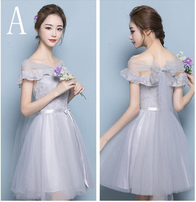 a341d6dd717 modest cute short grey grade 8 teenage graduation dress fancy dreses ...