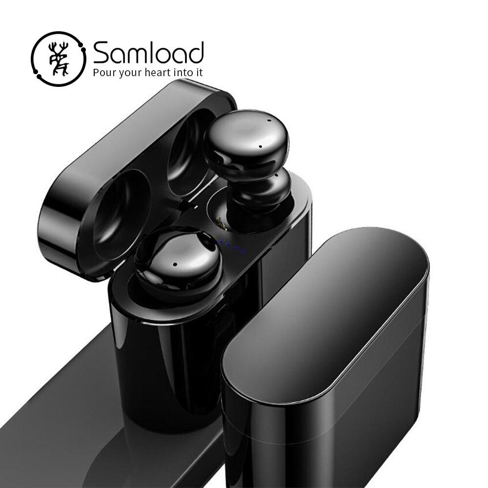 Samload Active Noise Cancelling Casque Sans Fil HIFI Écouteurs Bluetooth 5.0 ANC Casque avec boîte de charge Pour iPhone