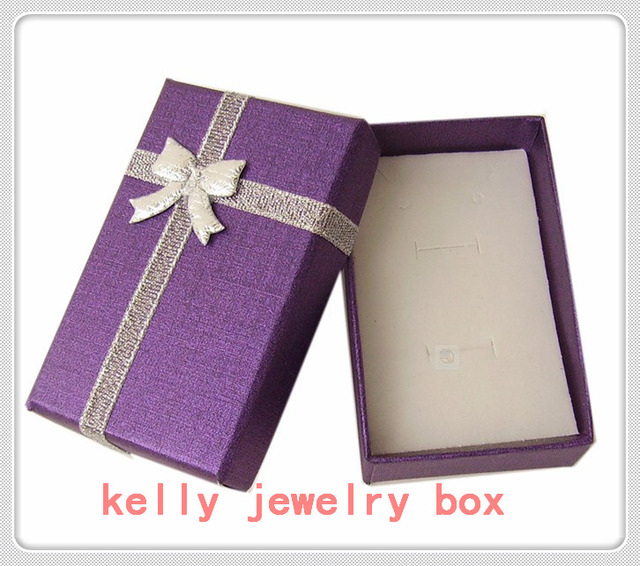 Us 27 6 8 Off Wholesale 48pcs Lot Purple Jewelry Gift Boxes Paper Colorful Bow Jewelry Sets Display Packaging Gift Box 5x8x2 5cm In Jewelry