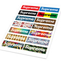 280 pcs/lot 20 A4 sheets Supreme sticker SUP red colors waterproof and oilproof computer glass backpack sticker free shipping