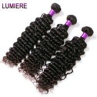 Lumiere Hair Malaysian Hair Weave Bundles 1PC Deep Wave Non Remy Hair Extensions 100 Human Hair