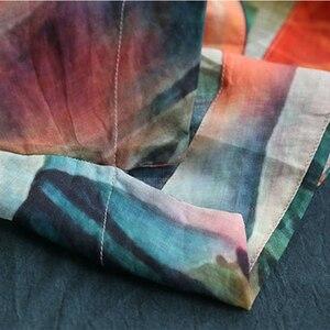 Image 5 - Johnature camisas do vintage botão de impressão de arte de manga curta blusa feminina 2020 verão moda solta selvagem blusa das senhoras
