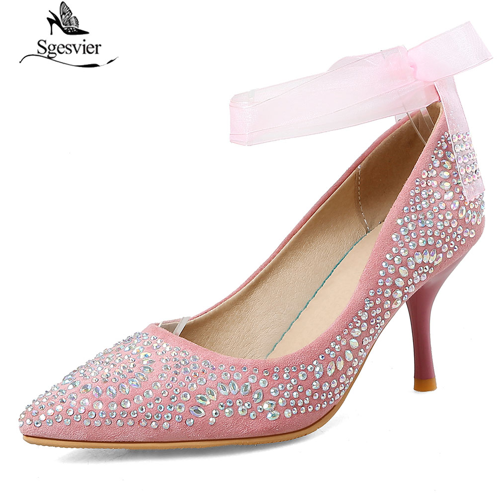 Sgesvier Women Pumps Sexy Party Silver Gold High Heel