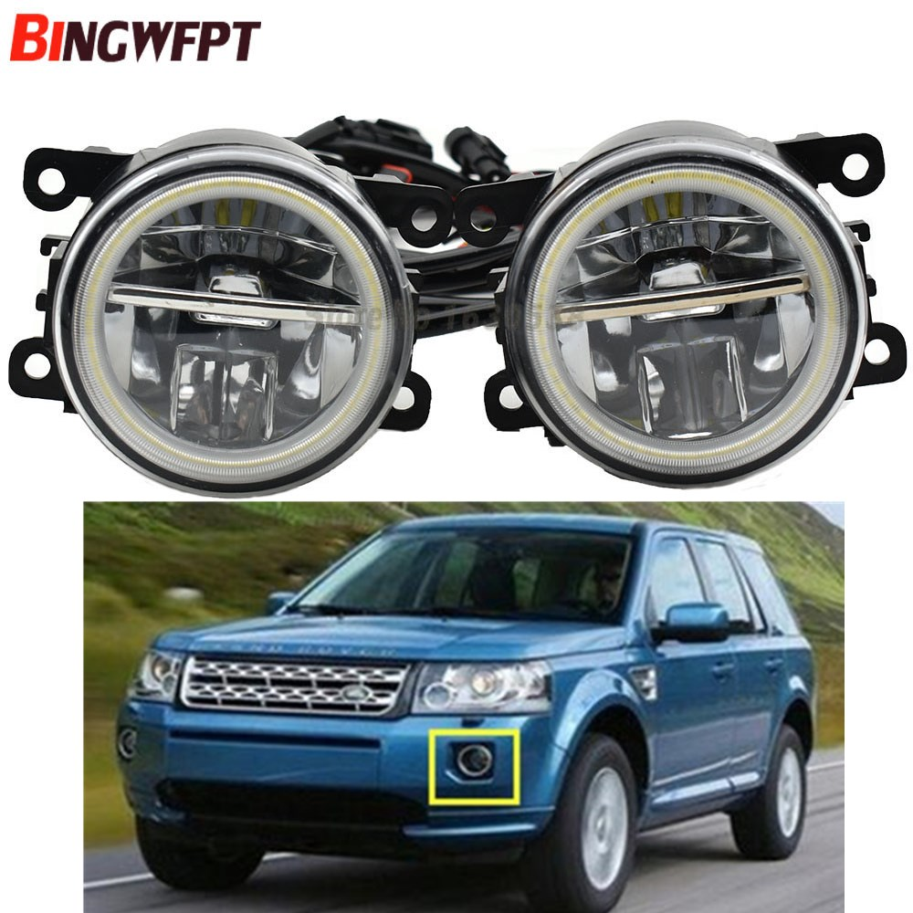 2x NEW Angel Eyes Car styling front bumper LED fog Lights For Land Rover Freelander 2
