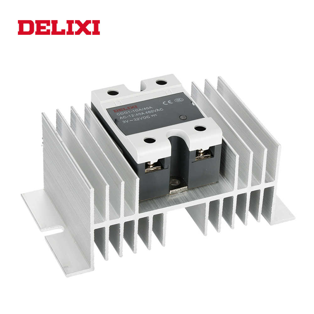 DELIXI CDG1 solid state relais SSR-10DA 15DA 25DA 40DA 60DA 3-32V DC ZU 24-480V AC SSR einphasig DC Steuer AC Keine Kontaktieren