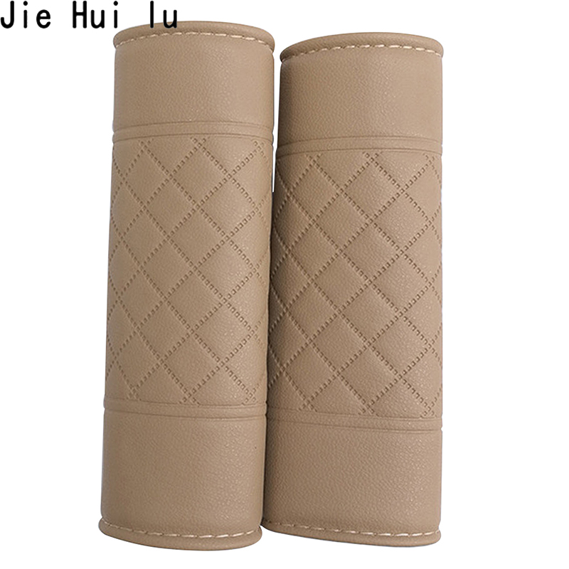 2Pcs Car Seat Belt Shoulders Pads Covers Cushion Car Safety Adjuster Belt Device Baby Child Protector PU Auto Safety Belt Cover