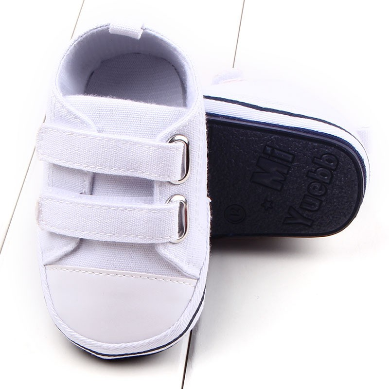 92608ce496a6b Solid Canvas Baby Shoes Newborn Boys Girls First Walkers Infant Toddler  Soft Bottom Anti slip Prewalker Sneakers-in First Walkers from Mother   Kids