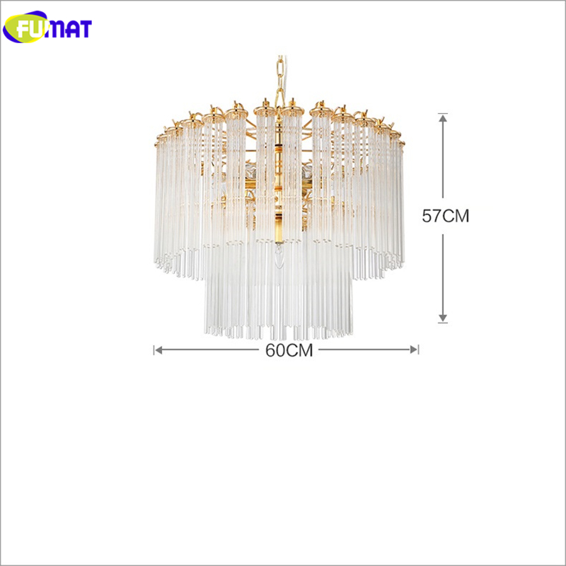 Moderne glazen hanglampen Korte goud + heldere eetkamer Slaapkamer - Binnenverlichting - Foto 4