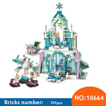 10664 Elsa's Magical Ice Palace Block Set Anna Olaf Building blocks Kids Bricks Toys Compatible with 41148 Girl Toy