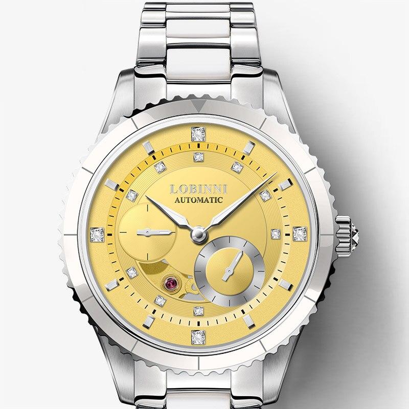 Top Luxury Brand LOBINNI Women Watches Japan MIYOTA Automatic Mechanical Clock Sapphire Diamond Skeleton Ladies Watch L2018 2 in Women 39 s Watches from Watches