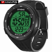 PANARS Men Digital Watches High Quality Black Outdoor Sports Electronic Large Di