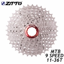 ZTTO Silver 9s 27s Speed Freewheel 11-36T Wide Ratio Cassette Sprocket MTB Mountain Bike For Shimano M370 M430 M4000 M590 M3000