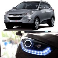 Ownsun Snow Diamond LED DRL Headlight with Angel Eye for Hyundai Tuscon ix35 2010 2012